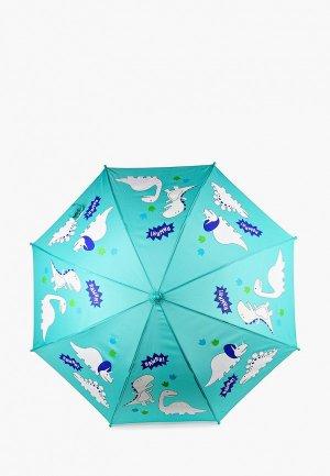 Зонт-трость Goroshek. Цвет: бирюзовый