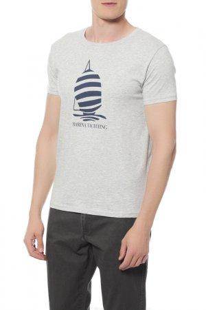 Футболка Marina Yachting. Цвет: серый