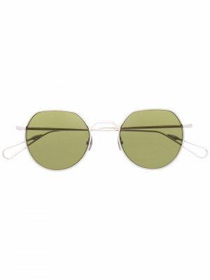 Солнцезащитные очки в круглой оправе Ahlem. Цвет: серебристый