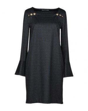 Короткое платье ANNA RACHELE JEANS COLLECTION. Цвет: стальной серый