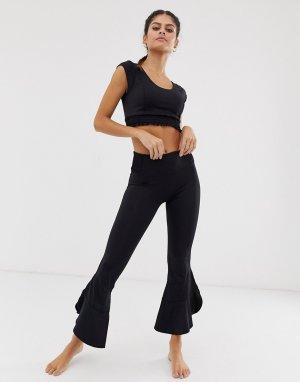 Расклешенные брюки Starlight-Черный Free People Movement