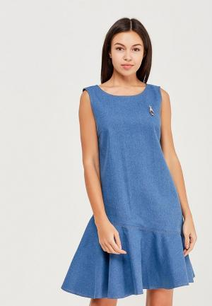 Платье джинсовое Masha Mart. Цвет: синий