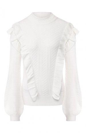 Шерстяной пуловер Chloé. Цвет: светло-бежевый