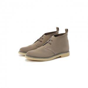 Замшевые ботинки Brunello Cucinelli. Цвет: коричневый