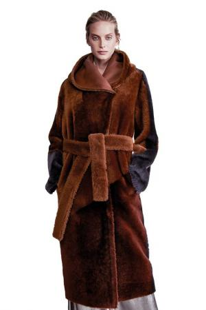 Fur coat VESPUCCI BY VSP. Цвет: brown