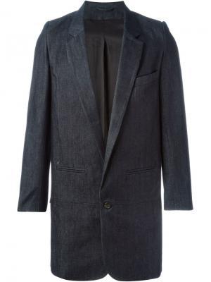 Джинсовое пальто миди Bless. Цвет: синий