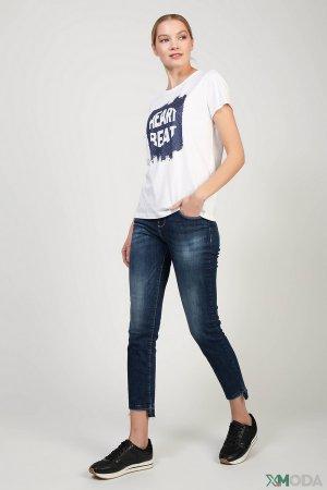 Брюки Gaudi Jeans. Цвет: синий