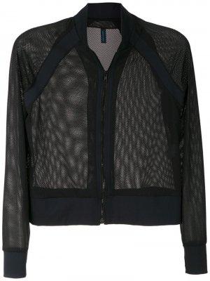 Куртка-бомбер с сетчатыми вставками Lygia & Nanny. Цвет: черный