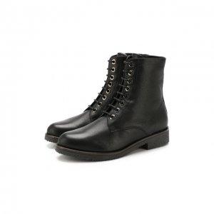 Кожаные ботинки Baldan. Цвет: чёрный