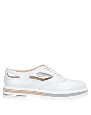 Обувь на шнурках ALBERTO GUARDIANI. Цвет: светло-серый