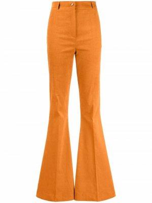 Расклешенные брюки Hebe Studio. Цвет: коричневый