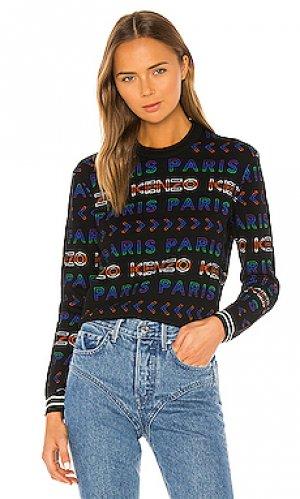 Пуловер all over Kenzo. Цвет: черный