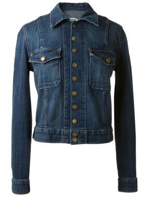 Выцветшая джинсовая куртка Current/Elliott. Цвет: синий