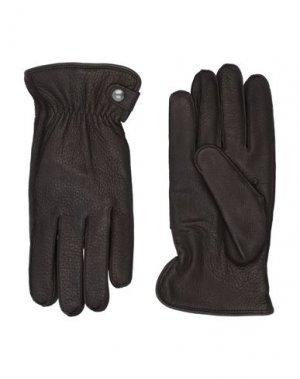 Перчатки ALPO. Цвет: темно-коричневый