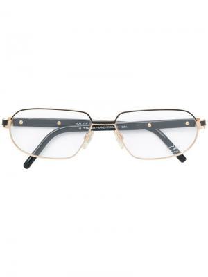 Классические очки в квадратной оправе Cazal. Цвет: черный