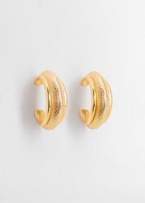 Серьги-кольца - Cecilia Mango. Цвет: золото