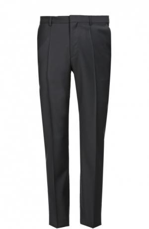 Классические шерстяные брюки HUGO. Цвет: темно-синий