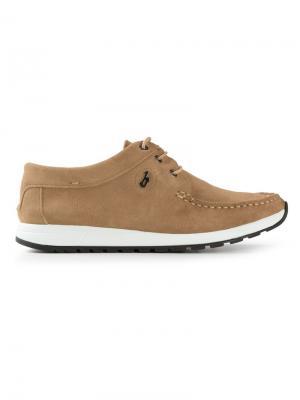 Палубные ботинки B Store. Цвет: телесный