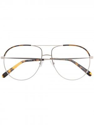 Очки-авиаторы Stella McCartney Eyewear. Цвет: коричневый