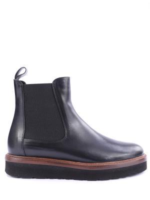 Кожаные ботинки-челси Per te. Цвет: черный