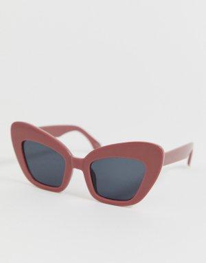 Солнцезащитные очки \кошачий глаз\ в толстой красной оправе -Красный AJ Morgan