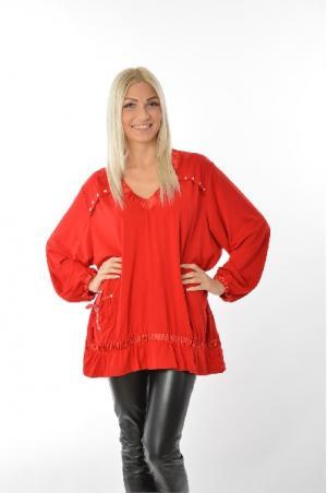 Блуза Зар-Стиль. Цвет: красный