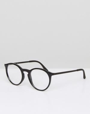 Круглые очки с прозрачными стеклами 0RX7132-Черный цвет Ray-Ban