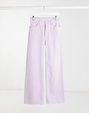 Широкие джинсы лавандового цвета из органического хлопка -Фиолетовый Monki