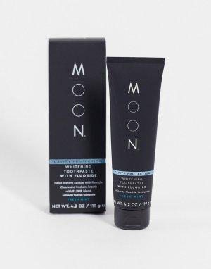 Отбеливающая зубная паста против кариеса с фтором , 119 г-Бесцветный Moon