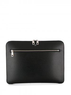 Чехол для ноутбука с логотипом Dolce & Gabbana. Цвет: черный