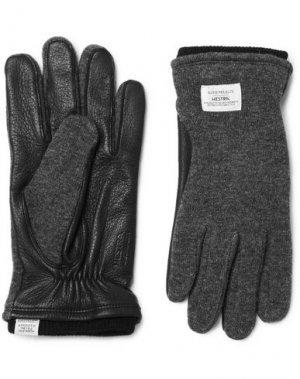 Перчатки NORSE PROJECTS. Цвет: свинцово-серый