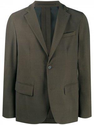 Однобортный пиджак Traiano Milano. Цвет: зеленый