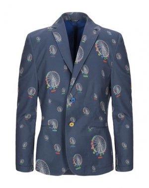 Пиджак GREY DANIELE ALESSANDRINI. Цвет: грифельно-синий