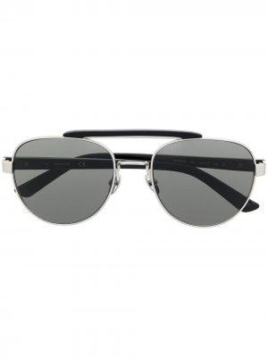 Солнцезащитные очки-авиаторы CK19306S Calvin Klein. Цвет: черный