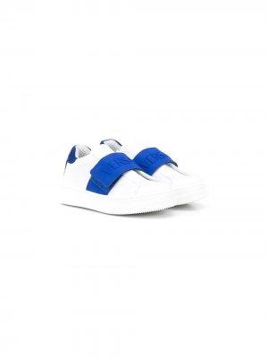 Кеды на липучках с логотипом Young Versace. Цвет: белый