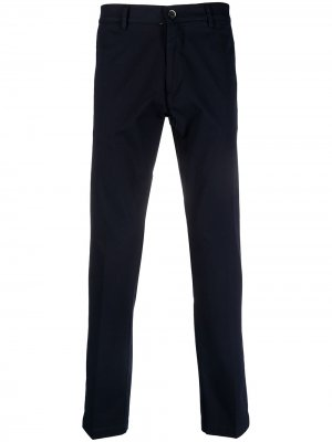 Узкие брюки строгого кроя Barena. Цвет: синий