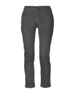 Повседневные брюки CANNELLA. Цвет: свинцово-серый