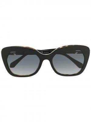 Солнцезащитные очки Serpenti в оправе кошачий глаз Bulgari. Цвет: черный