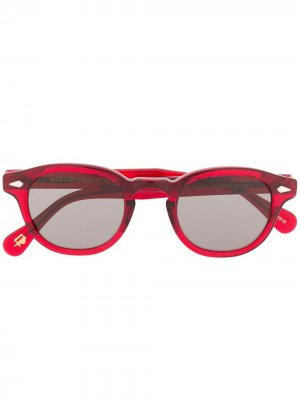 Солнцезащитные очки Lemtosh в круглой оправе Moscot. Цвет: красный