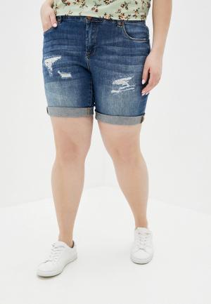Шорты джинсовые Zizzi. Цвет: синий