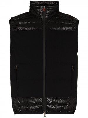 Стеганый жилет со вставками Kiton. Цвет: черный