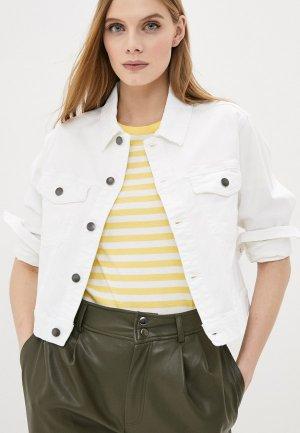 Куртка джинсовая Jacqueline de Yong. Цвет: белый