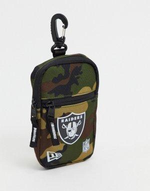 Сумка-кошелек на пояс с камуфляжным принтом NFL Oakland Raiders-Зеленый New Era