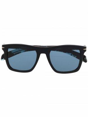 Солнцезащитные очки в квадратной оправе черепаховой расцветки Eyewear by David Beckham. Цвет: черный
