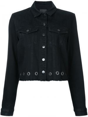 Куртка Dylan с люверсами Nobody Denim. Цвет: чёрный