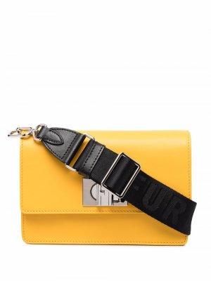 Мини-сумка через плечо 1927 Furla. Цвет: оранжевый