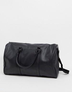 Черная дорожная сумка из искусственной кожи -Черный French Connection