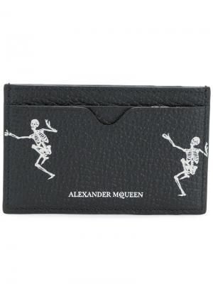 Skeleton card holder Alexander McQueen. Цвет: чёрный