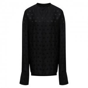 Блузка из вискозы и шелка Haider Ackermann. Цвет: чёрный
