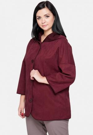 Куртка кожаная Limonti. Цвет: бордовый